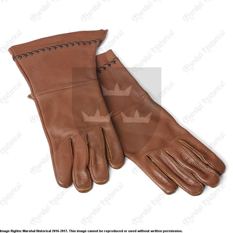 Guantes bordados - Marrón - Rebel Replicas