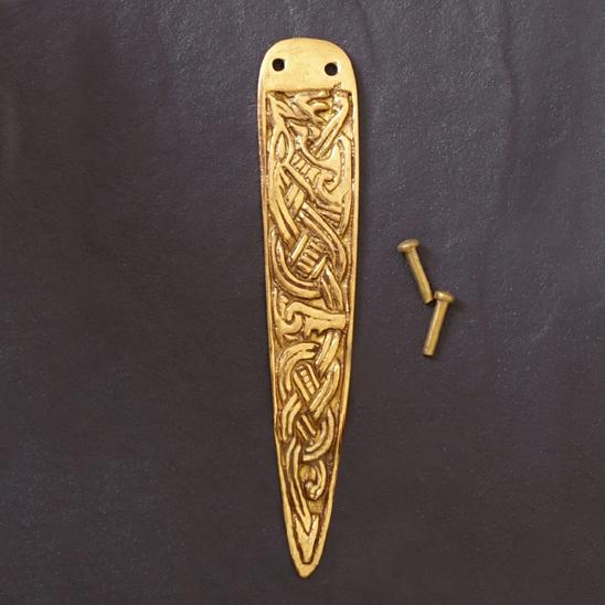 Viking belt End - Brass The Time Seller