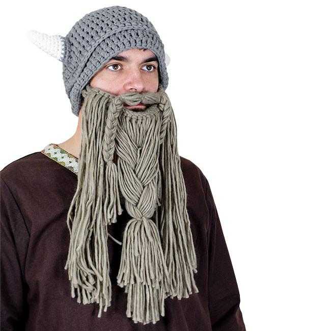 Gorro Vikingo de Ganchillo con Barba - Adulto The Time Seller