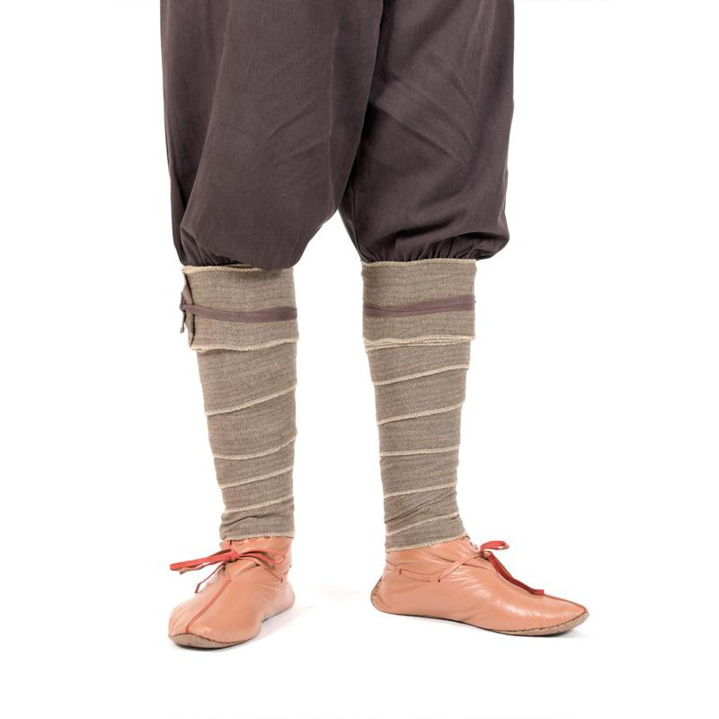 Winningas/ Leg wraps/ Puttee out of Herringbone - Brown The Time Seller