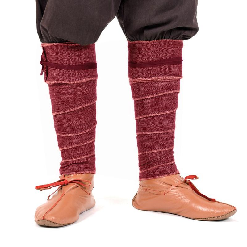 Winningas/ Leg wraps/ Putee out of Herringbone - Red/Wine color The Time Seller