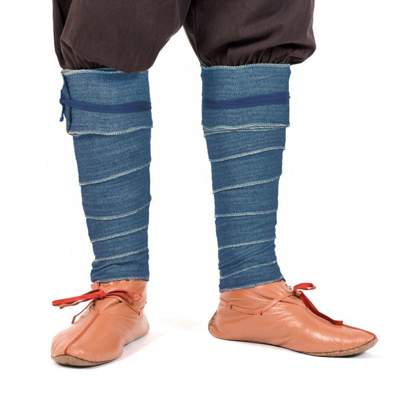 Winningas/ Leg wraps/ Puttee out of Herringbone - Blue The Time Seller