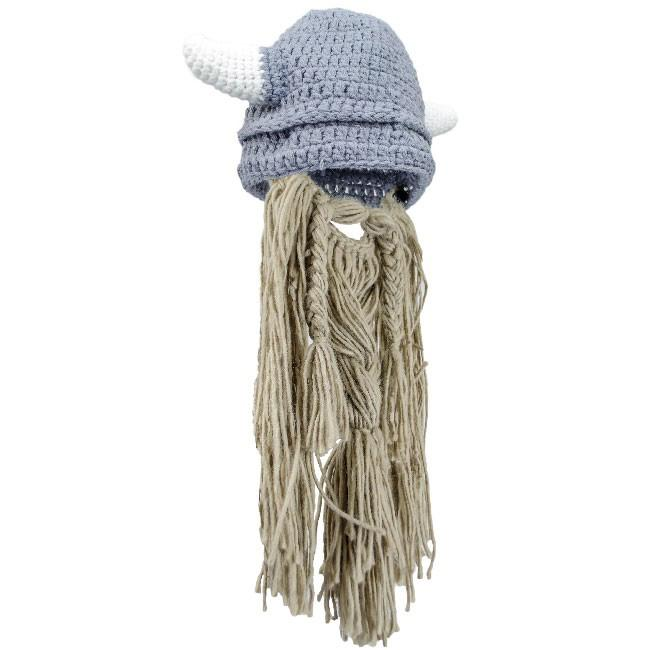 Knitted Viking Hat with Beard - Kid The Time Seller