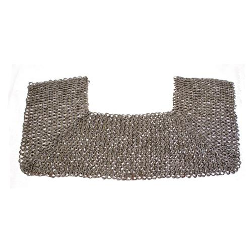 Chainmail gorget, flatring wedge rivets mixed with solid rings The Time Seller