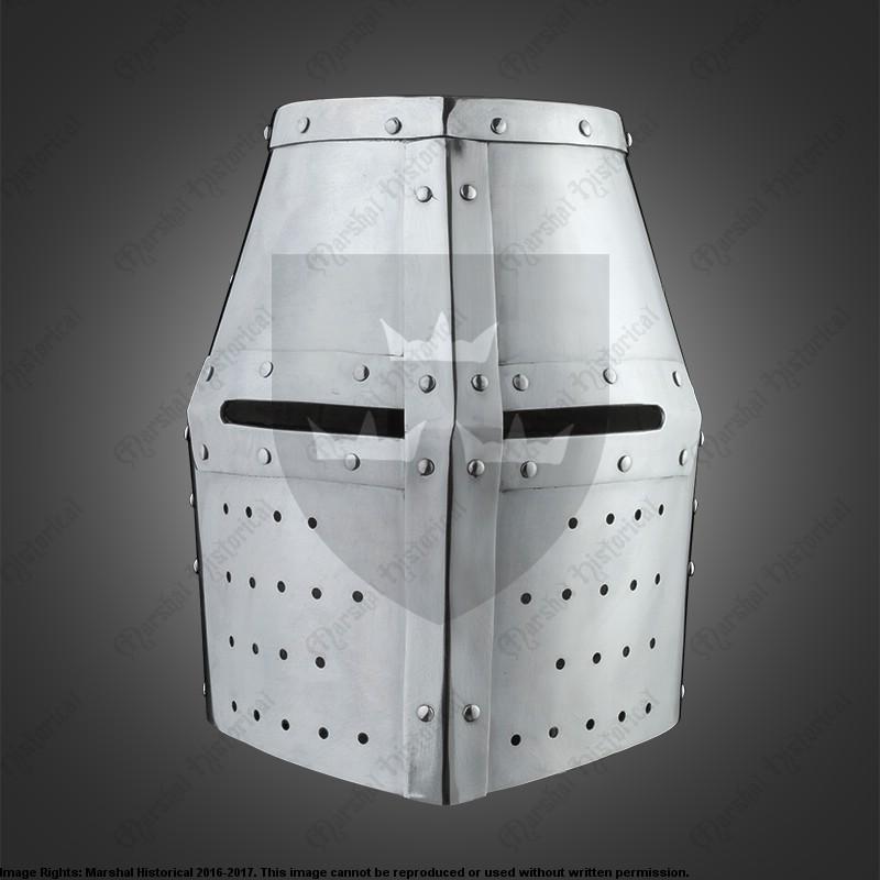 Yelmo completo de cruzado - 2,5mm - Versión de Batalla Medieval - HMB - BOHURT The Time Seller