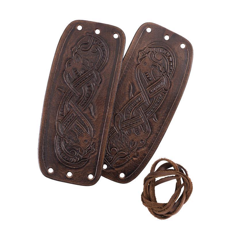 Brazaletes de cuero Vikingo estilo Jelling The Time Seller
