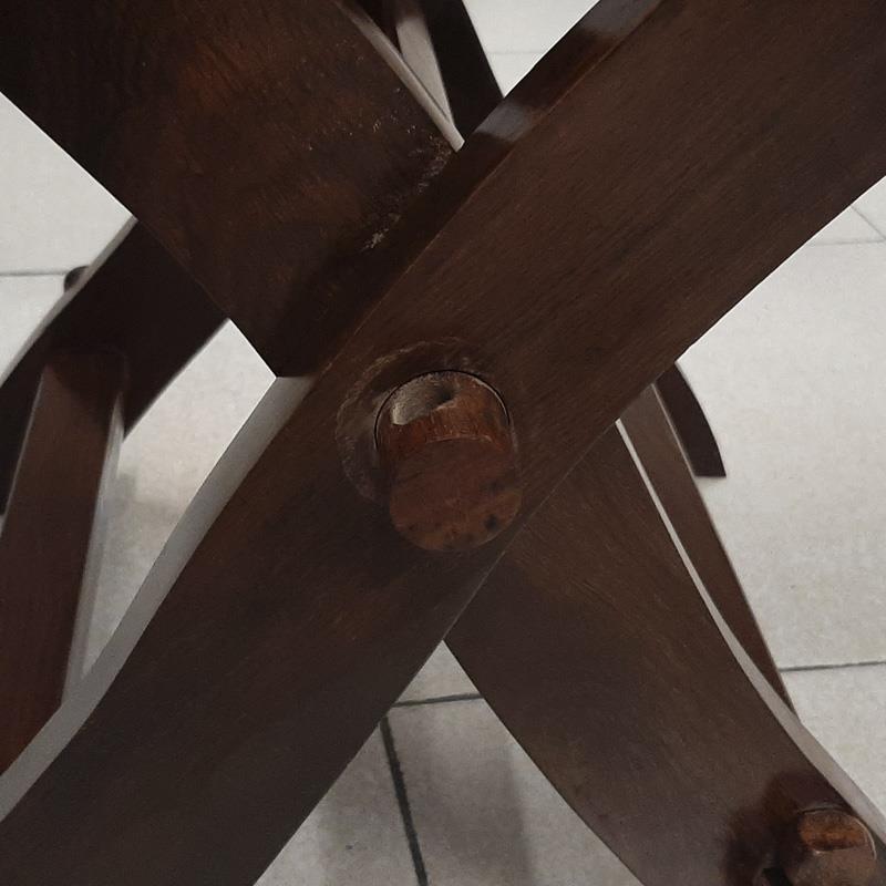 DEFECTUOSO - Silla de tijera con asiento de cuero The Time Seller
