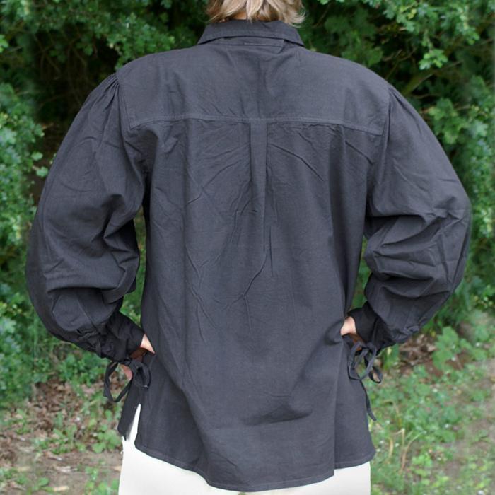 Camisa de la baja edad media, negra The Time Seller