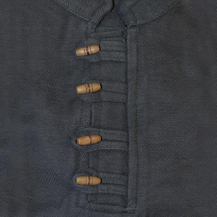 Camisa gruesa con botones de madera, negro The Time Seller