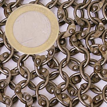 Gorjal de cota de malla, anilla redonda remachada The Time Seller