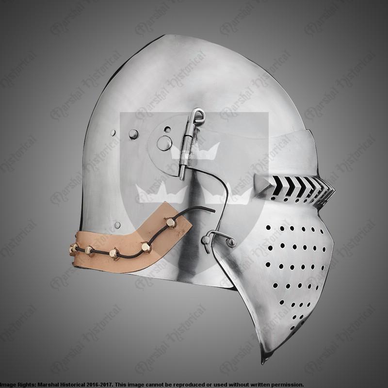 Bacinete de batalla 4 - 2,5mm - Versión de Batalla Medieval - HMB - BOHURT The Time Seller