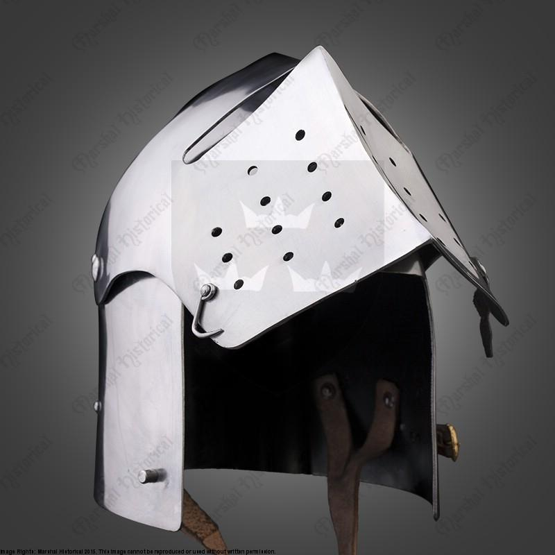Bacinete con visor - 2,5mm - Versión de Batalla Medieval - HMB - BOHURT The Time Seller